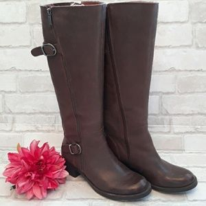 Lucky Brown Leather Boots  sz 7.5